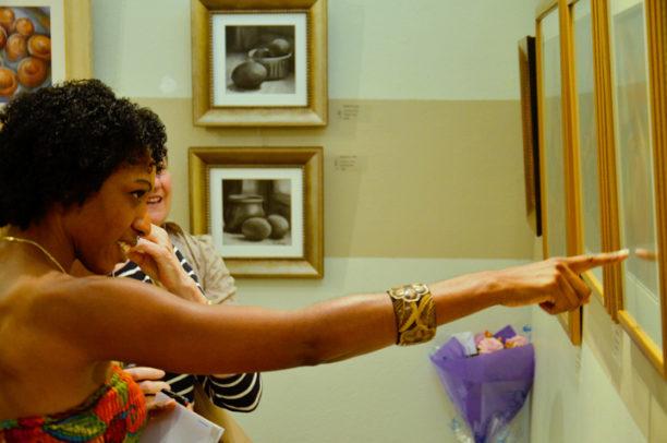 Commonplace Beauty art opening Bermuda Society of Arts with artist Vanessa Turner