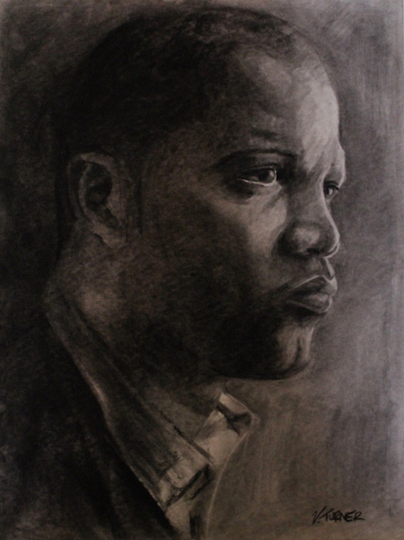 Nhuri Bashir Bermuda Charcoal portrait drawings