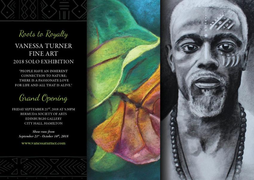 Roots to Royalty art exhibition Bermudian artist Vanessa Turner