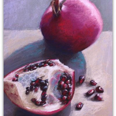 Pomegranate pastel painting