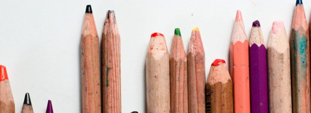 Various Height Coloured Pencils