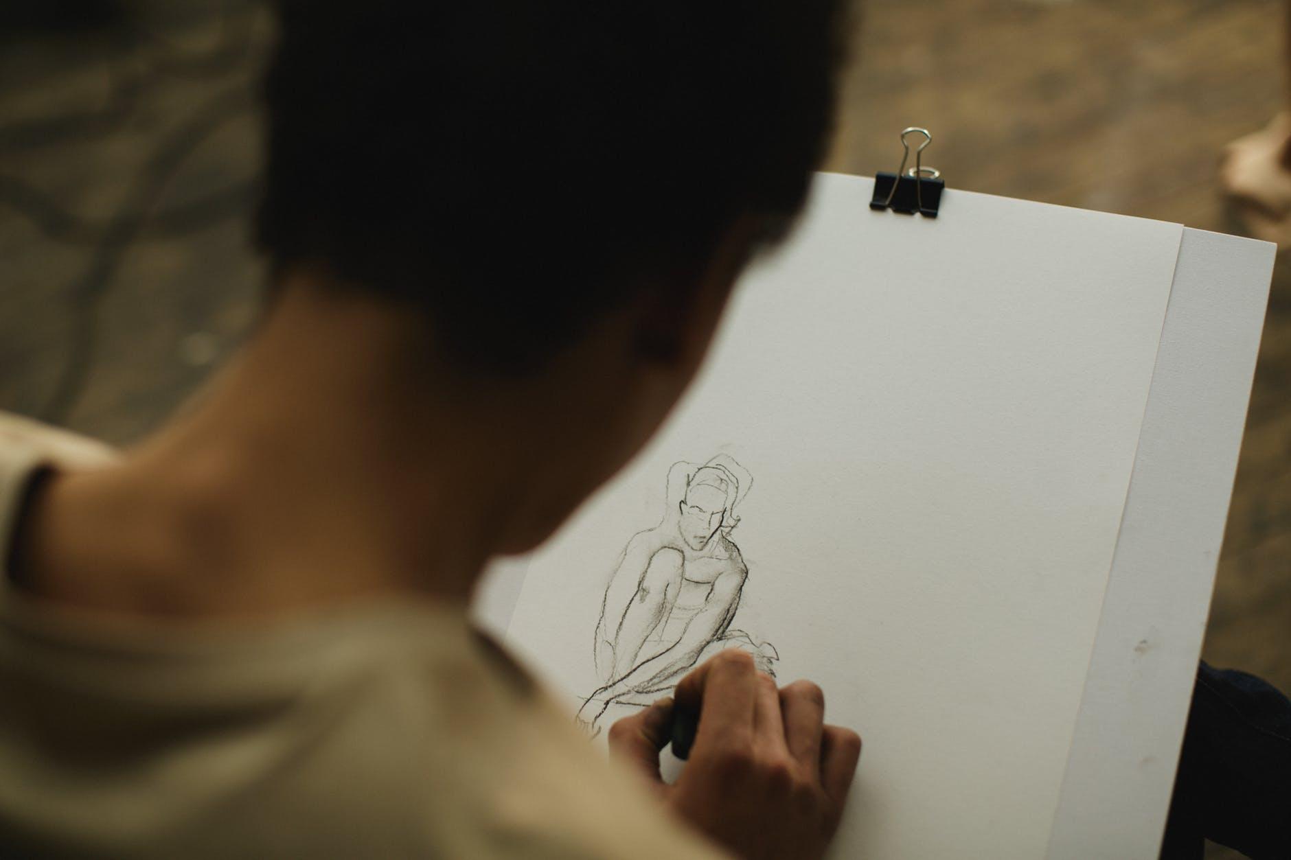 Artist Sketching - Figure Drawing