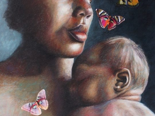 A Mother's Love - Pastel Painting